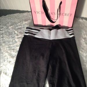 Pink Victoria Secret Black Yoga Pants Small